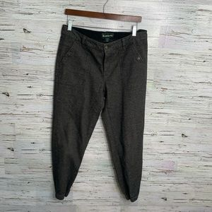 Roots brown jogger style pants trousers 10